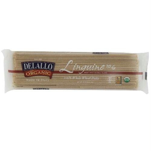 De Lallo Linguine Whole Wheat #6 (16x1 Lb) - Rhea Manor Natural Market