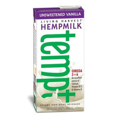 Living Harvest Vanilla Hempmilk Unsweetened (12x32 Oz) - Rhea Manor Natural Market