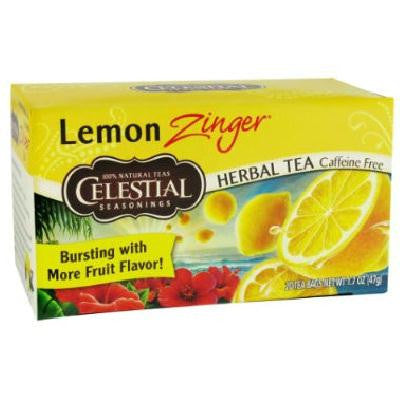 Celestial Seasonings Lemon Zinger Herb Tea (6x20bag) - Rhea Manor Natural Market