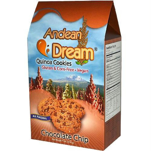 Andean Dream Quinoa Choc Chip Cookies Gluten Free (6x7 Oz) - Rhea Manor Natural Market