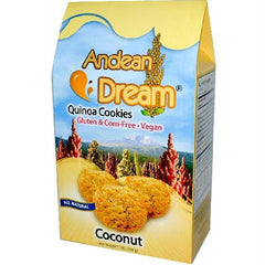 Andean Dream Quinoa Coconut Cookies Gluten Free (6x7 Oz) - Rhea Manor Natural Market