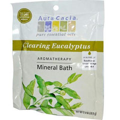 Aura Cacia Eucalyptus Harvest Mineral Bath Salts (6x2.5 Oz) - Rhea Manor Natural Market