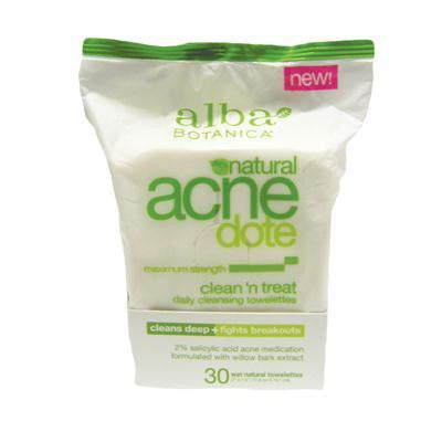 Alba Botanica Acnedote Clean And Treat Towelettes (1x30 Ct)