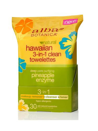 Alba Botanica 3 In 1 Clean Towelette (1x30 Ct) - Rhea Manor Natural Market