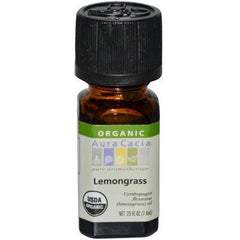 Aura Cacia Organic Lemongrass Essential Oil (1x.25 Oz) - Rhea Manor Natural Market