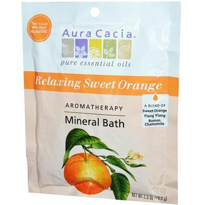 Aura Cacia Mineral Bath Relaxing Sweet Orange (6x2.5 Oz) - Rhea Manor Natural Market