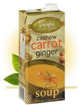 Pacific Natural Foods Bisque, Cashew Carrot Ginger (12x17.6oz) - Rhea Manor Natural Market
