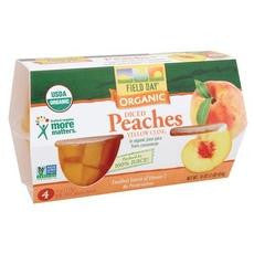 Field Day Organic Diced Peach Cups (6x4pk )