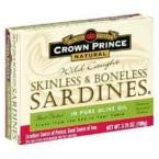Crown Prince Sardines Skinless Boneless In Oil (12x3.75 Oz) - Rhea Manor Natural Market