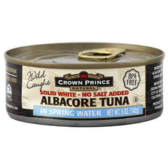Crown Prince Albacore Tuna In Water No Salt Added (12x12 Oz) - Rhea Manor Natural Market