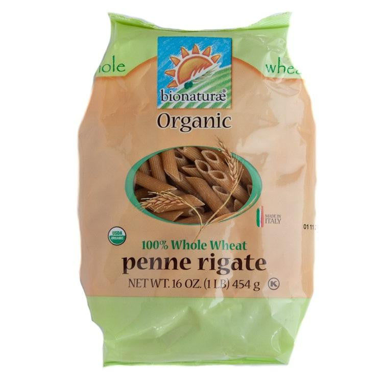 Bionaturae Penne Rigate Whole Wheat Pasta (12x16 Oz) - Rhea Manor Natural Market