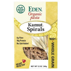 Eden Foods Whole Kamut Spirals (6x12 Oz) - Rhea Manor Natural Market