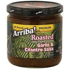 Arriba! Fire Roasted Southwestern Garlic & Cilantro Salsa (6x16oz) - Rhea Manor Natural Market