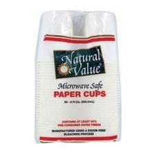 Natural Value Recycled Paper Cups (12x60cnt )
