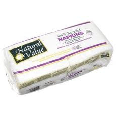 Natural Value Recycled Napkins (24x120cnt )