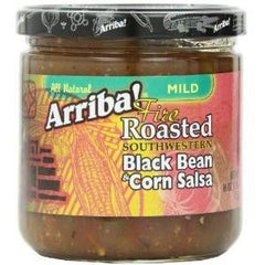 Arriba! Fire Roasted Southwestern Black Bean & Corn Salsa (6x16oz) - Rhea Manor Natural Market