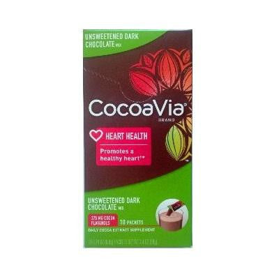 Cocoavia Dark Chocolate Unsweetened Mix (1x10ct)