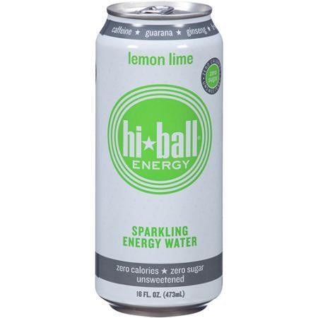 Hiball Sparkling Energy Water Lemon Lime (6x4pack)