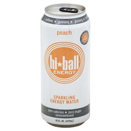 Hiball Sparkling Energy Water Peach (6x4pack)