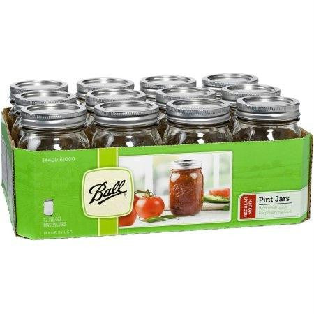 Ball Canning Jar Regular Mouth With Lid (1x12 Ct) - Rhea Manor Natural Market