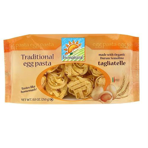 Bionaturae Organic Tagliatelle Egg Pasta (12x8.8 Oz) - Rhea Manor Natural Market
