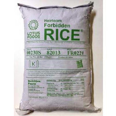Lotus Foods Forbidden Rice China Black (1x22lb) - Rhea Manor Natural Market - Rhea Manor Natural Market