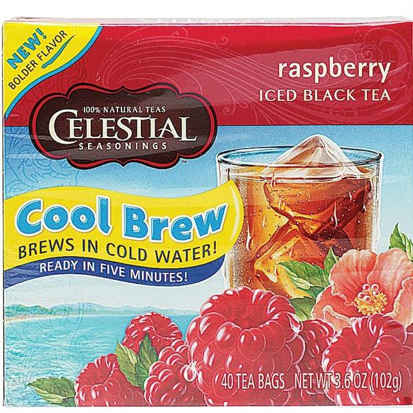 Celestial Seasonings Raspberry Cool Brew Iced T (6x40bag ) - Rhea Manor Natural Market