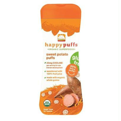 Happy Puffs Sweet Potato Gf (6x2.1oz ) - Rhea Manor Natural Market
