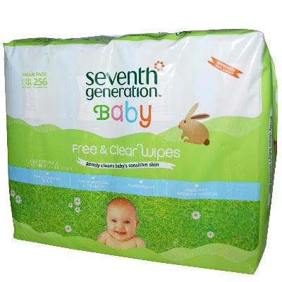 Seventh Generation F&c Baby Wipe Refil (3x256 Ct) - Rhea Manor Natural Market
