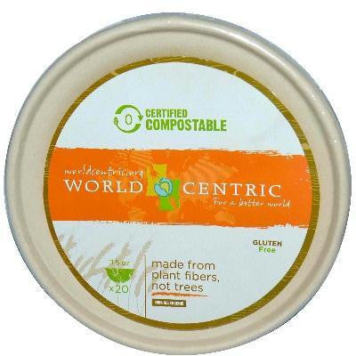 World Centric Bagasse Bowl 11.5oz (12x20 Ct)