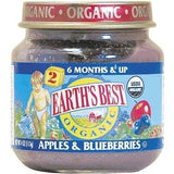 Earth's Best Baby Foods Baby Apple/bluberry (12x4oz )