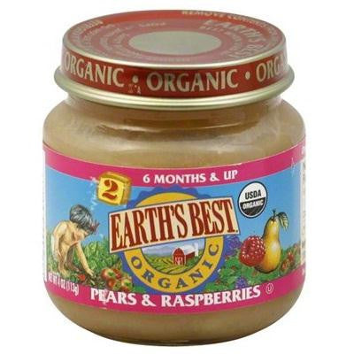 Earth's Best Baby Foods Baby Pear/raspberry (12x4oz )