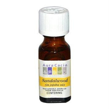 Aura Cacia Sandalwood Prcs Essence (1x0.5oz ) - Rhea Manor Natural Market