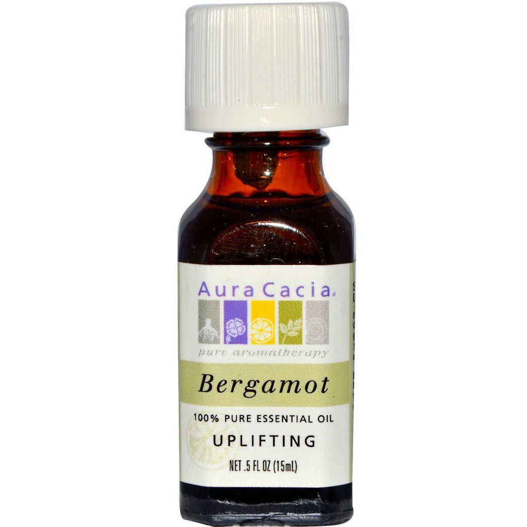 Aura Cacia Bergamot Essential Oi (1x0.5oz ) - Rhea Manor Natural Market