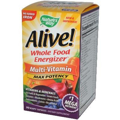 Nature's Way Alive No Iron Added (1x90vcap) - Rhea Manor Natural Market