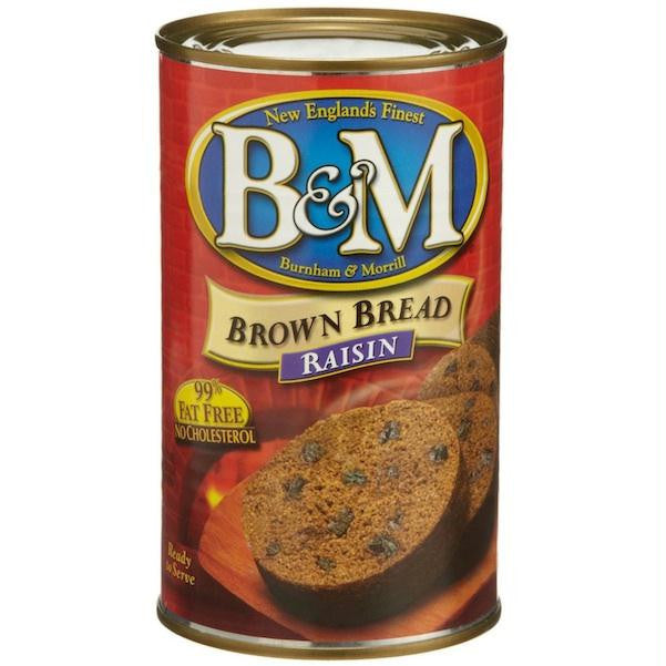 B&m Brown Brd W/raisins (12x16oz ) - Rhea Manor Natural Market