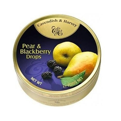 Cavendish And Harvey Fruit Drops Tin  Pear And Blackberry  5.3 Oz  Case Of 12