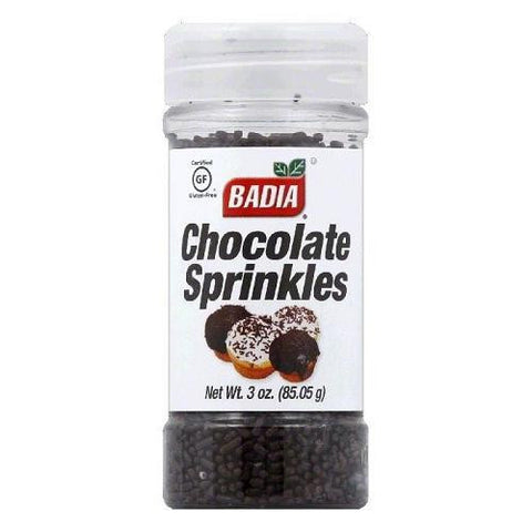 Badia Chocolate Sprinkles (12x3 Oz)