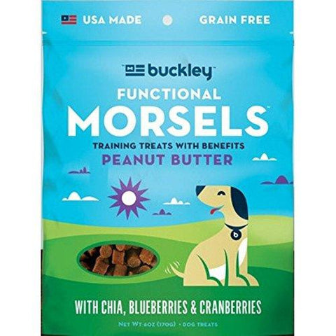 Buckley Functional Peanut Butter Morsels Dog Treats (8x6 Oz)
