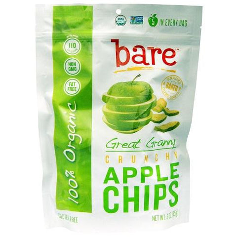 Bare Fruit Great Granny Crunchy Apple Chips (12x3 Oz)