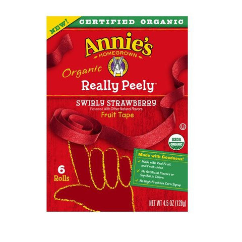 Annie's Homegrown Swirly Strawberry Organic Really Peely Fruit Tape (12x4.5 Oz)