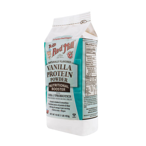 Bob's Red Mill Vanilla Protein Powder Nutritional Booster  16 Oz  Case Of 4
