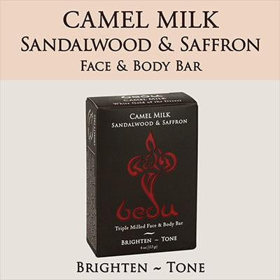 Bedu Naturals Camel Milk Bar Soap Sandalwood & Saffron  (6x4 Oz)