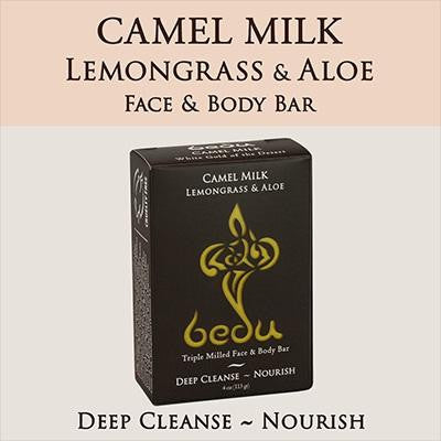 Bedu Naturals Camel Milk Bar Soap Lemongrass & Aloe (6x4 Oz)