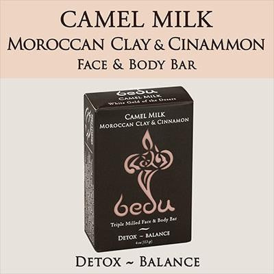 Bedu Naturals Camel Milk Bar Soap Moroccan Clay & Cinnamon (6x4 Oz)
