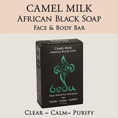 Bedu Naturals Camel Milk Bar Soap African Black Soap (6x4 Oz)