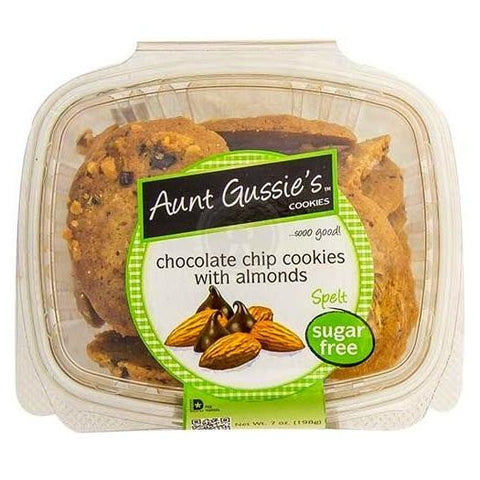 Aunt Gussie's Sugar Free Chocolate Chip Cookies With Almonds (8x7 Oz)