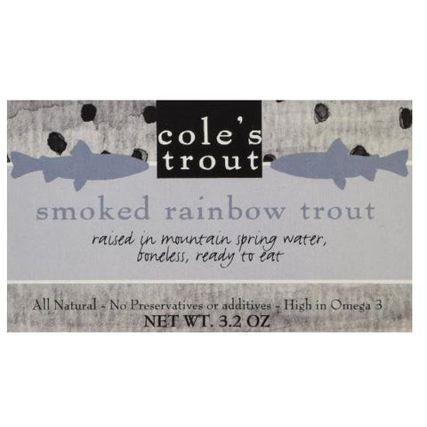 Cole's Smoked Rainbow Trout In Olive Oil  3.2 Oz  Case Of 10