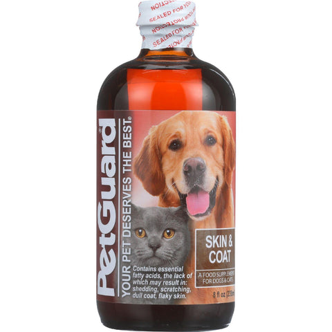 Petguard Skin And Coat Supplement  Dogs And Cats  8 Oz  1 Each