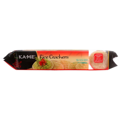 Kame Rice Crackers  Wasabi  3.5 Oz  Case Of 12